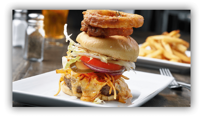 This image has an empty alt attribute; its file name is Firkin_TempReducedMenu_Burger.png
